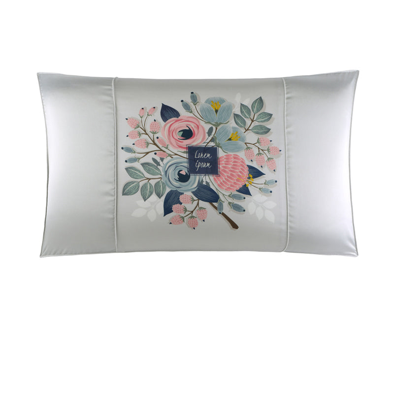 Double-Sided Elegant Printed Silk Pillowcase
