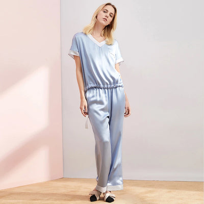 19 Momme Loose Lifestyle Long Silk Pajamas Set