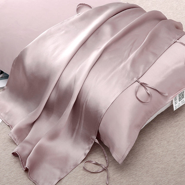 Lace-up Silk Travel Pillow Cover-22 Momme-Queen Size