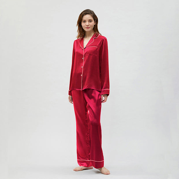 19 Momme Women's Classic Silk Pajamas  Multi-Colors Selected