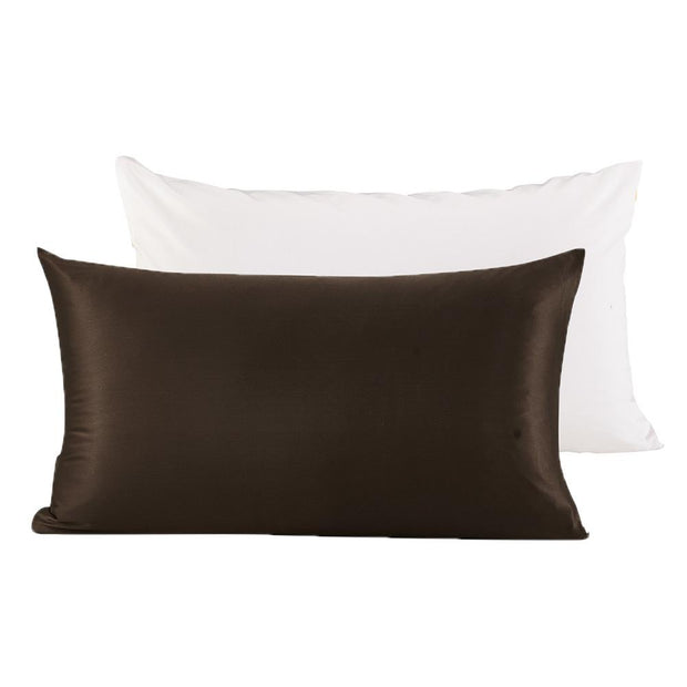 Terse Silk Pillowcase with Polyester Underside | Zipper | 19mm