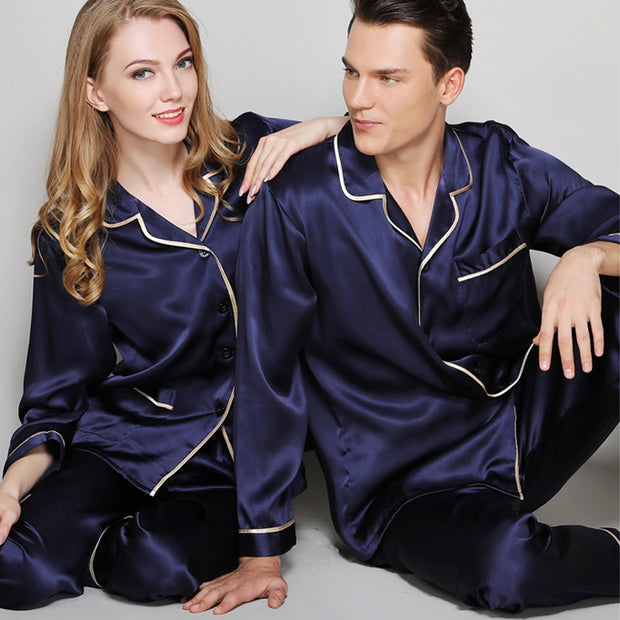 19 Momme Classic Silk Pajamas Set For Couple