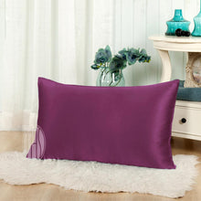 Both Sides In Mulberry Silk Pillowcase | Sheets Matching Colors | Hidden Zipper Closure | 19MM