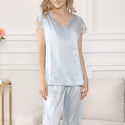 22 Momme Ice Silk Thin Household Pajamas