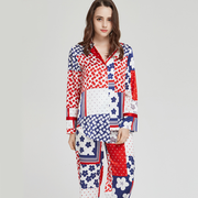 25 Momme New Printed Silk Pajamas Set