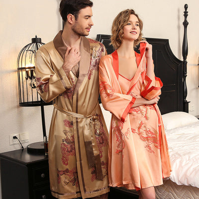 30 Momme Luxury Silk Robe Set For Couple