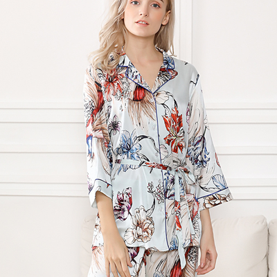 25 Momme Printed Silk Pajamas