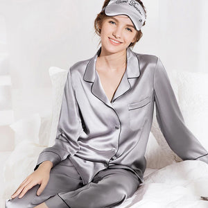 Women's Classic Silk Pajamas Set Short ( Multi-Color Selected)