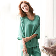 22 Momme Women's Life Style Real Silk Pajamas Set