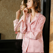 22 Momme Glamorous Long-sleeved Silk Pajamas Suit