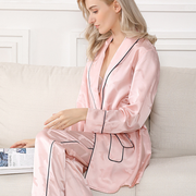 25 Momme Household Long-sleeved Silk Pajamas Suit