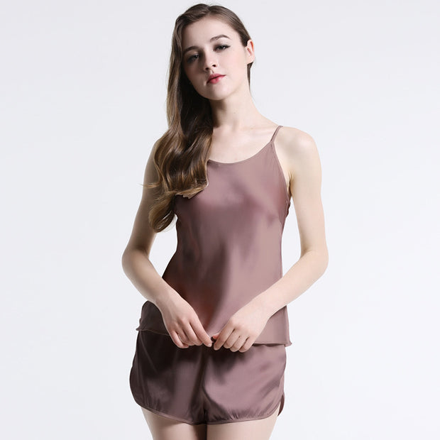 19 Momme Women's Elegant Short Silk Camisole Set