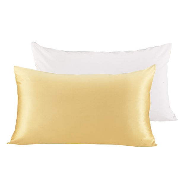 Terse Silk Pillowcase with Polyester Underside | Zipper | 22mm