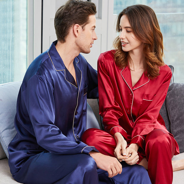19 Momme Classic Silk Pajamas Set For Couple | Multi-Colors Selected