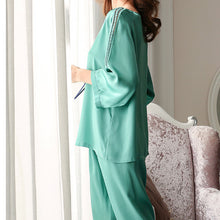 Women's Life Style Real Silk Pajamas Set
