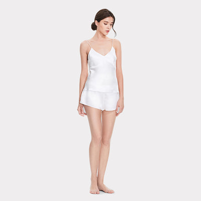 19 Momme Women's Basic Silk Camisole Set