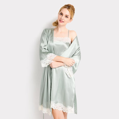 22 Momme High Quality Women's Lovely Silk Robe Set