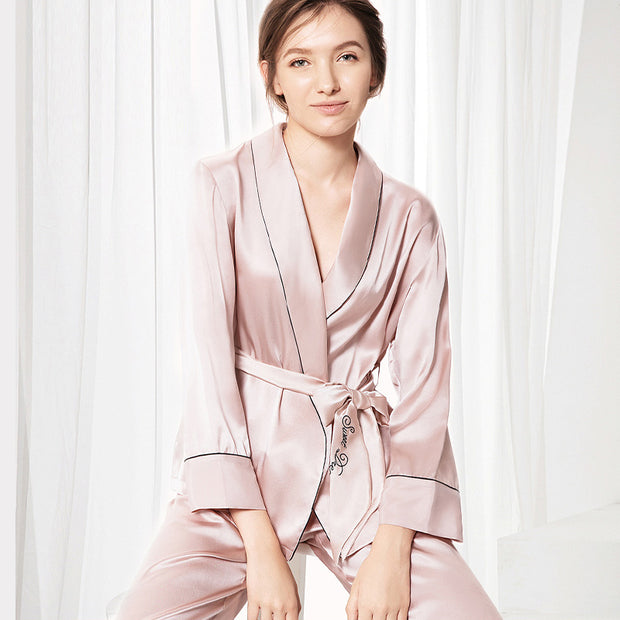 25 Momme Women's Elegant Silk Pajamas Set