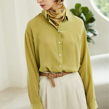 Women Zinnia Yellow Casual Style Silk Basic Blouse