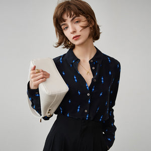 Women Chic Silk Shirt