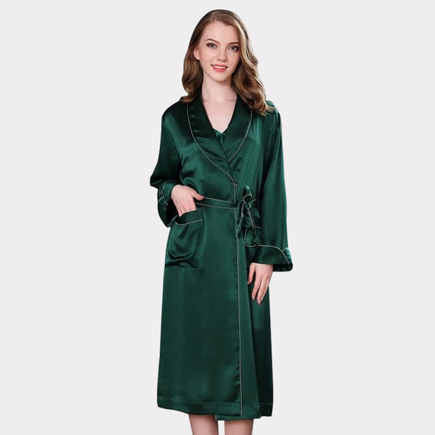 30 Momme Luxury Women's High Quality Classic Silk Robe