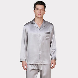 High Quality Classic Silk Pajamas Set for Men