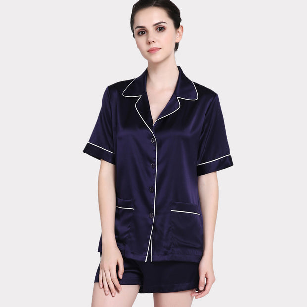22 Momme Classic Women's Short-sleeved Silk Pajamas