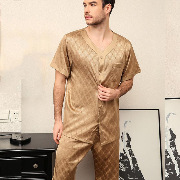 25 Momme Luxury Life Style Short Silk Pajamas Set for Men