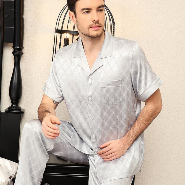 25 Momme Luxury Short Silk Pajamas Set for Men
