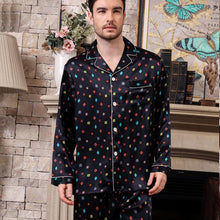 Design 2019 High Quality Printed Silk Pajamas Set for Men