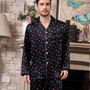 22 Momme High Quality Design 2019 High Quality Printed Silk Pajamas Set for Men