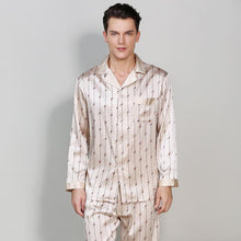 Printed Silk Pajamas Set for Men
