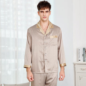 Silk Pajamas Set for Men | Two Colors