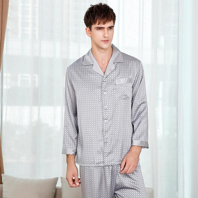 Silk Pajamas Set for Men | Two Colors¡¡