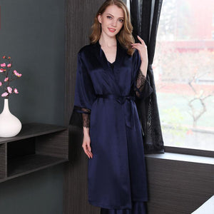 Women's Long Silk Robe