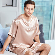 22 Momme High Quality Classic Short Silk Pajamas For Men
