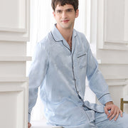22 Momme High Quality Printed Silk Pajamas Set For Men | Multi-Colors Selected