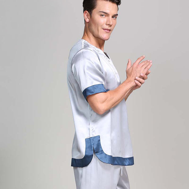 22 Momme High Quality Short Pajamas Set For Men