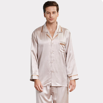 22 Momme High Quality Classic Silk Pajamas For Men