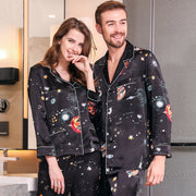 22 Momme High Quality Universal Printed Silk Pajamas Set For Men