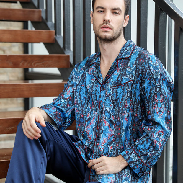 22 Momme High Quality Fashion Affordable Silk Pajamas Set For Men