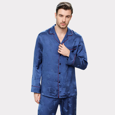 22 Momme High Quality Real Silk Pajams Set For Men