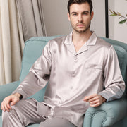 30 Momme Luxury Pure Silk Pajamas Set For Men