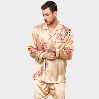30 Momme Luxury Royal Real Silk Pajamas Set For Men
