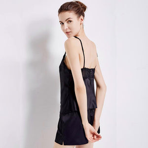 Women's Short Silk Camisole Set
