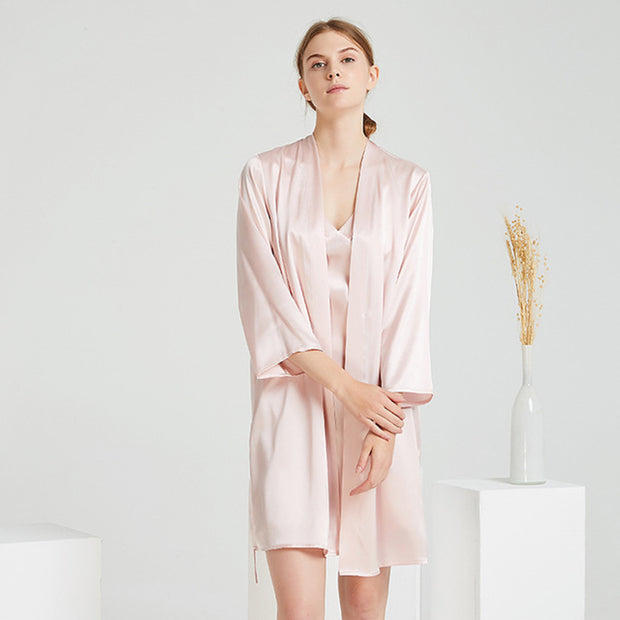 22 Momme High Quality Silk Robe Set-Two Pieces | Multi-Colors Selected