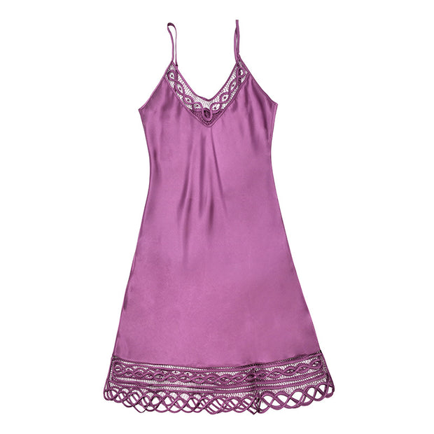 19 Momme Lace Mesh Silk Nightgown | Multi-Colors Selected