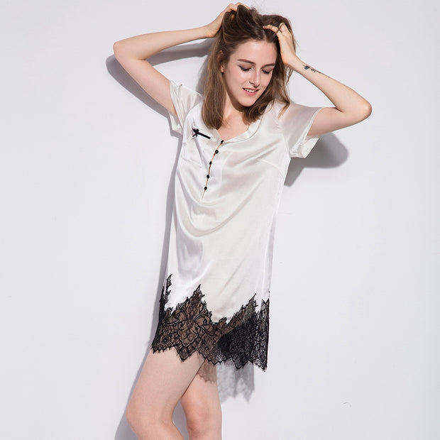 19 Momme French Lace Silk Nightgown