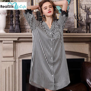 Women's High Quality Design 2019 Silk Sleep Shirt