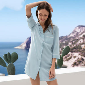 Women's Design 2019 Silk Sleep Shirt